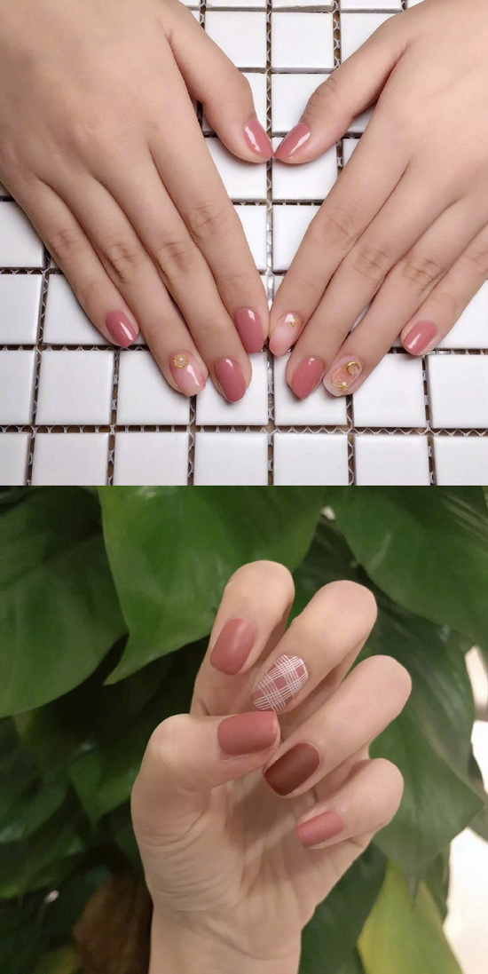 This year, very popular bean paste manicure, sweet and stylish