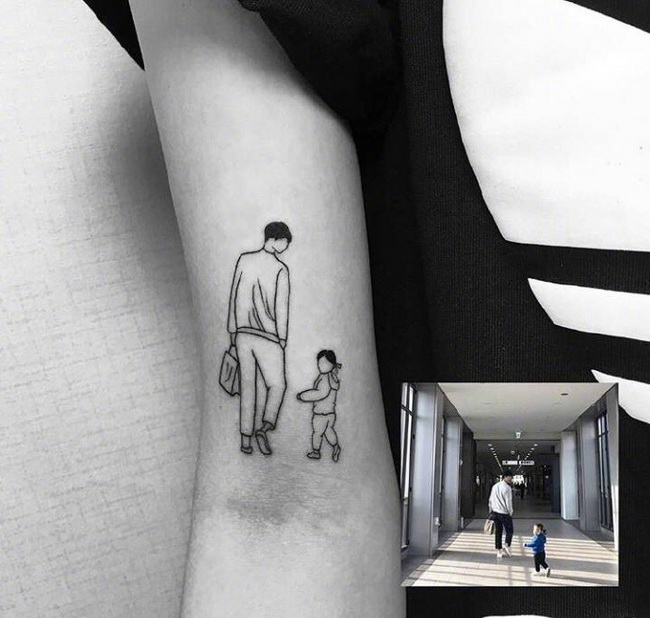 The most loved one is engraved on the body, photo engraved tattoo pictures