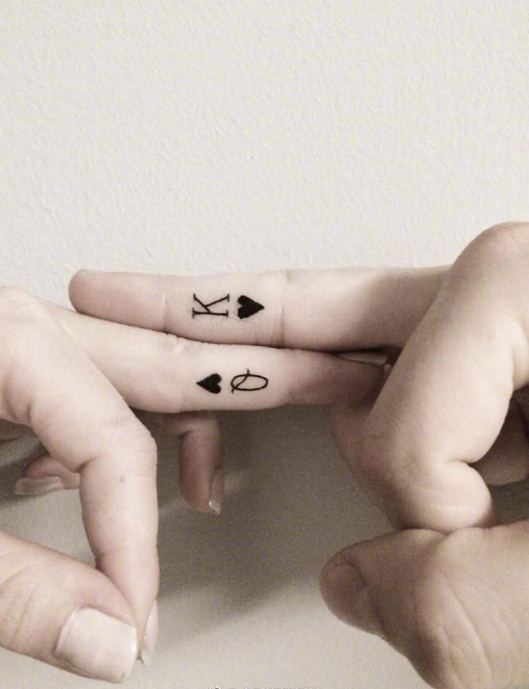 Couple tattoo pictures Daquan, together to complete